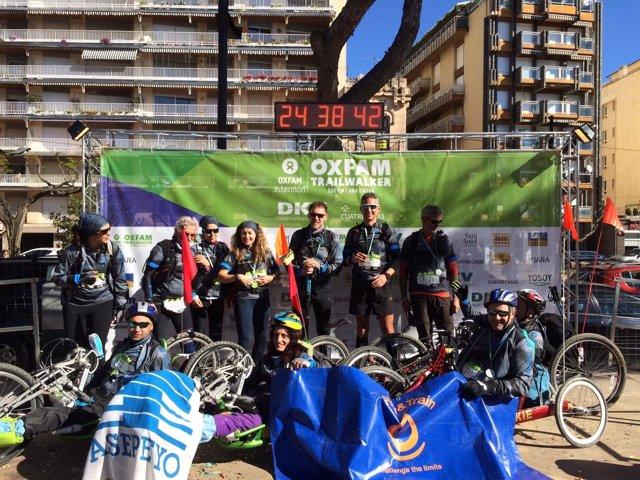 Participantes de Asepeyo en la Oxfam Trailwalker