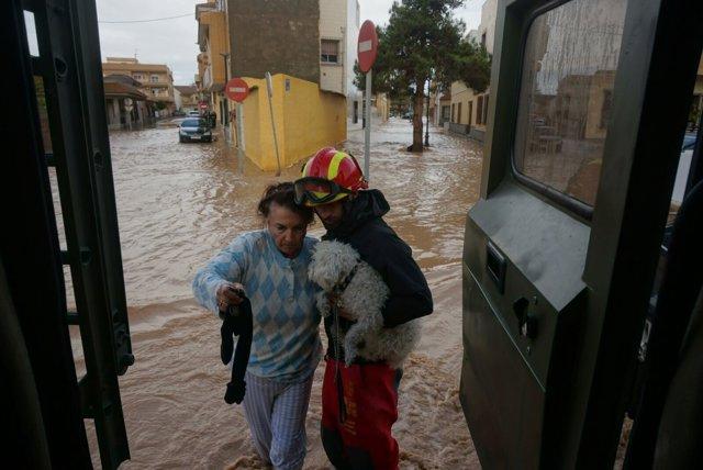 Actuación de la UME, lluvias, inundaciones