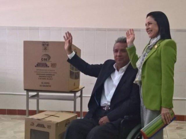El candidato de Alianza PAÍS a presidir Ecuador, Lenín Moreno