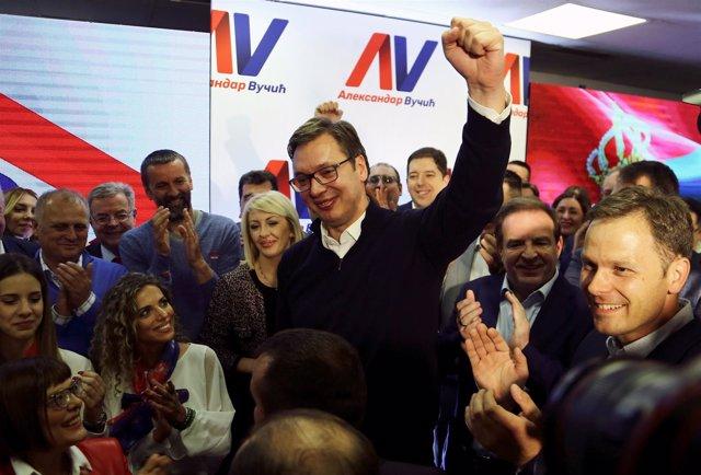 El primer ministro serbio, Aleksandar Vucic