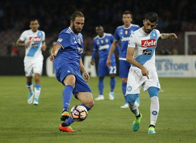 Gonzalo Higuaín regresa con la Juventus a Nápoles