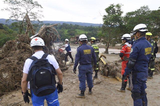 Rescate tras inundaciones en Mocoa, Colombia