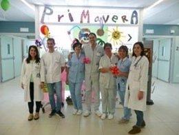 Personal de enfermería, auxiliar y celador que ha impulsado la iniciativa.