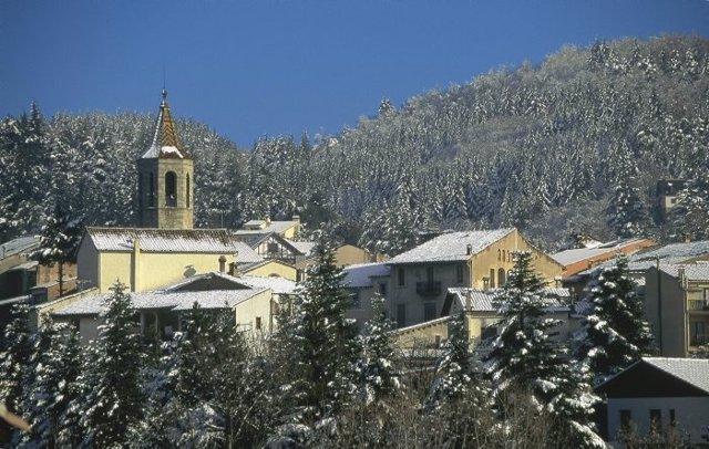 Nieve En Viladrau, Girona