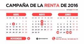 Fechas clave para la declaración de la Renta 2016 y novedades de la campaña de este año