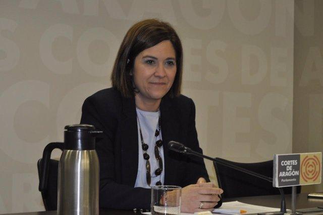 La portavoz parlamentaria de Cs Aragón, Susana Gaspar