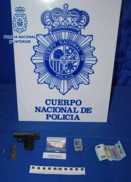Drogas y armas interceptada por la Policía Nacional