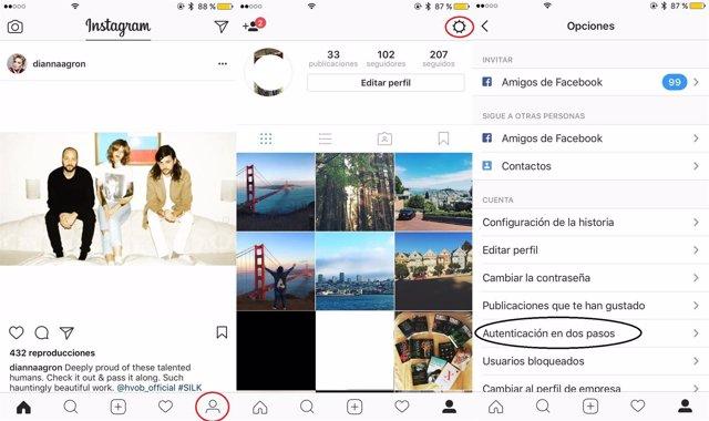 Gu a para activar la verificaci n doble de seguridad en for Codigo nuevo instagram