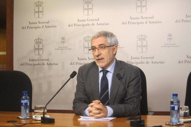 El diputado regional de IU en la Junta General, Gaspar Llamazares.