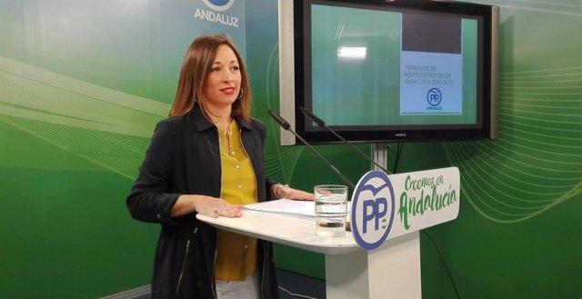 Patricia Navarro, hoy en rueda de prensa