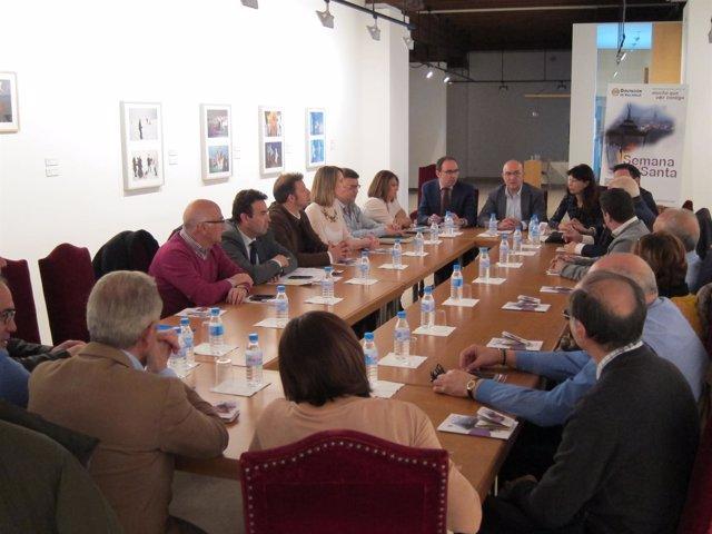 Valladolid. Imagen de la reunión en la sede de la Diputación