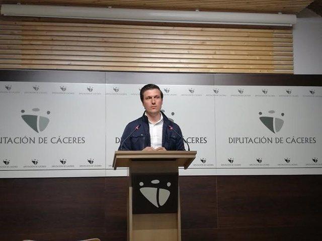 Fernando G.Nicolás, portavoz de Diputación de Cáceres