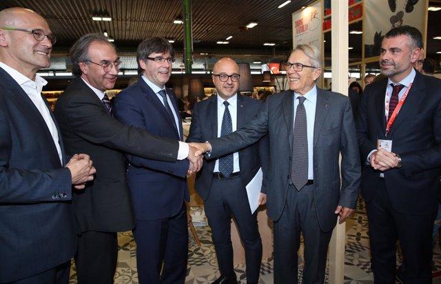 El presidente de la Generalitat, Carles Puigdemont en Bolonia