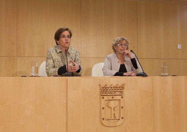 Manuela Carmena y Purificación Causapié