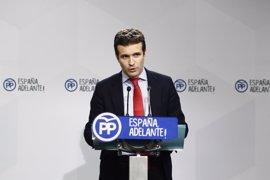 """El PP irá """"paso a paso"""" con respecto al presidente de Murcia e insiste en que sigue sin estar hoy procesado"""