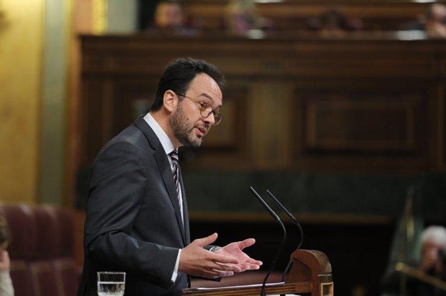 Antonio Hernando en el debate en el Congreso sobre el Consejo Europeo