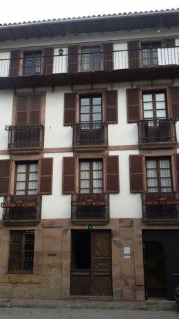 La oficina de Hacienda en Santesteban.
