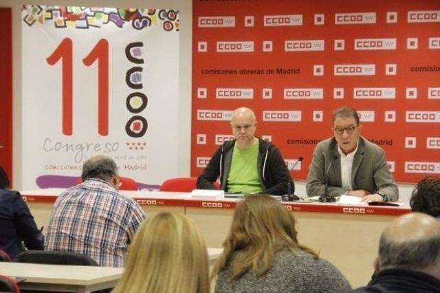 Jaime Cedrún y el secretario de Organización Paco Cruz