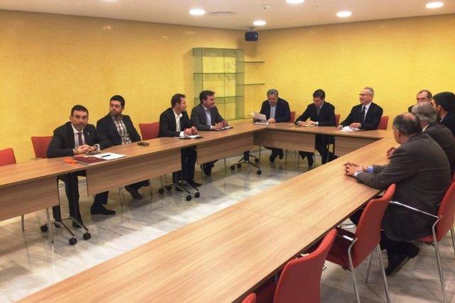 Reunión alcaldes con presidente CHS