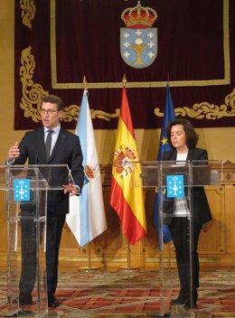 El presidente de la Xunta de Galicia y la vicepresidenta de Gobierno de España