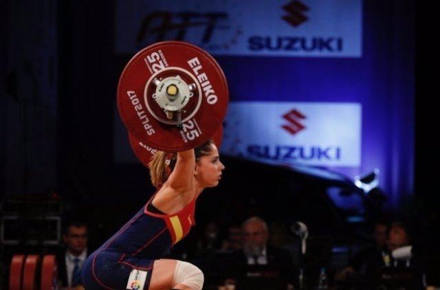 Atenery Hernández halterofilia plata 53 kg Europeo Split