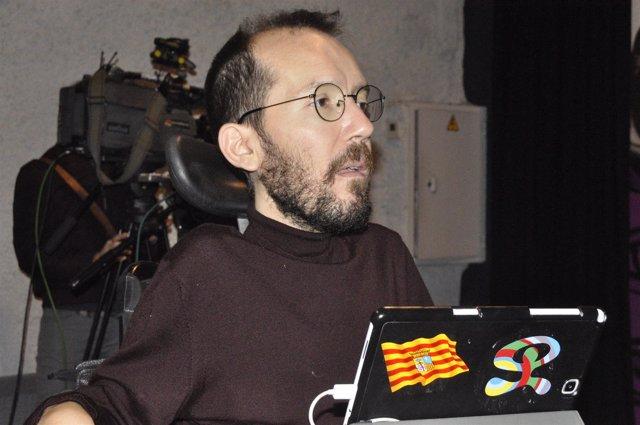El líder de Podemos Aragón, Pablo Echenique.
