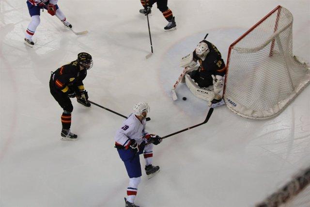 Selección española masculina de hockey hielo España Islandia