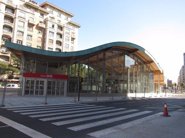 Estación De Cercanías De Goya, En Zaragoza