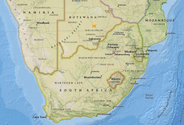 Terremoto en Botsuana