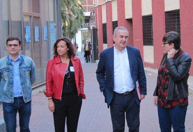 Emilio Ivars, Isabel Casaldueron, Rafael González Tovar  y Presen  López