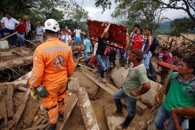 Afectados por las inundaciones en Mocoa