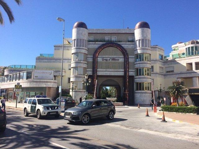 Urbanización de Marbella donde se han registrado propiedades de Raafit Al Assad