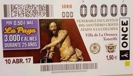 La ONCE dedica un cupón a la Semana Santa de La Orotava (Tenerife)
