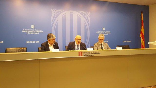 El conseller de Empresa y Conocimiento de la Generalitat, Jordi Baiget