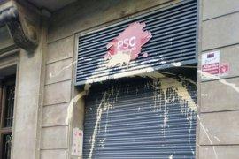 El PSC denunciará una agresión a la sede de su federación de Barcelona