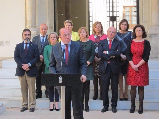 Pedro Antonio Sánchez y sus consejeros