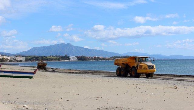 Playas estepona semana santa puesta a punto demarcación costas litoral obras