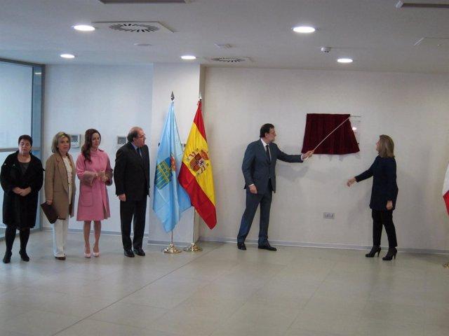 Rajoy, durante la inauguración de la nueva sede en Segovia.