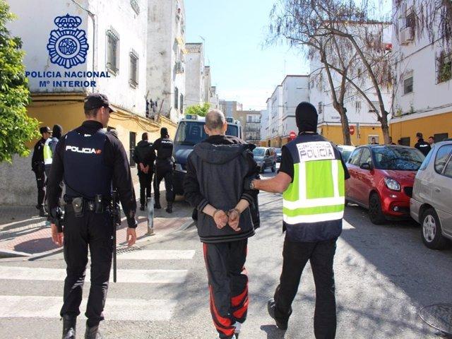 Actuación de la Policía Nacional en Los Pajaritos