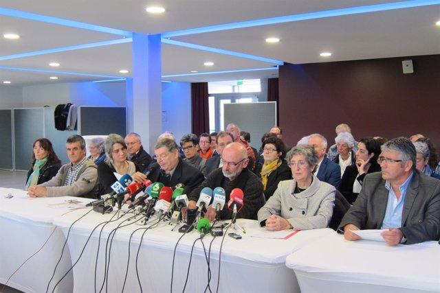 Rueda de prensa en Baiona de los Artesanos de la Paz