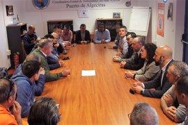 """IU muestra en Algeciras su apoyo a los estibadores, que representan """"lo que entendemos que es la clase trabajadora"""""""