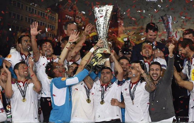 El Sevilla, campeón de la Europa League por quinta vez