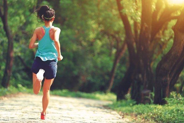 Correr, deporte, mujer, ejercicio