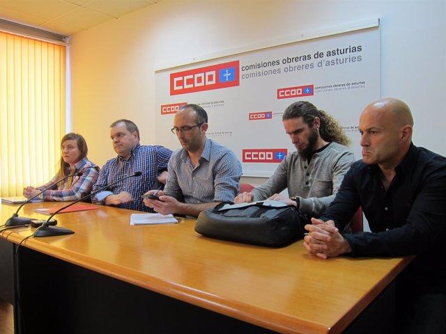 Comité de empresa de Capsa Food en la sede de CCOO