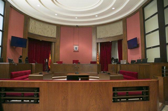 Sala de vistas del Tribunal Superior de Justicia de Catalunya