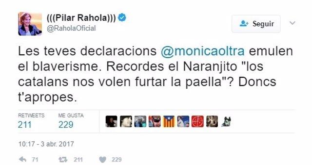 El tuit de Pilar Rahola