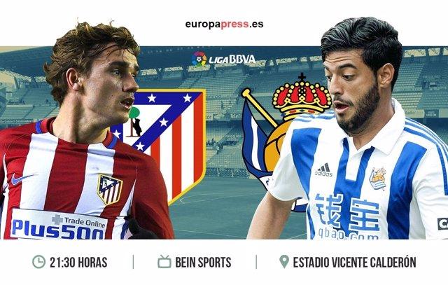 Horario y dónde ver el Atlético de Madrid – Real Sociedad | Jornada ...
