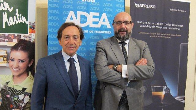 Salvador Arenere y Miguel Iborra, en un acto de ADEA