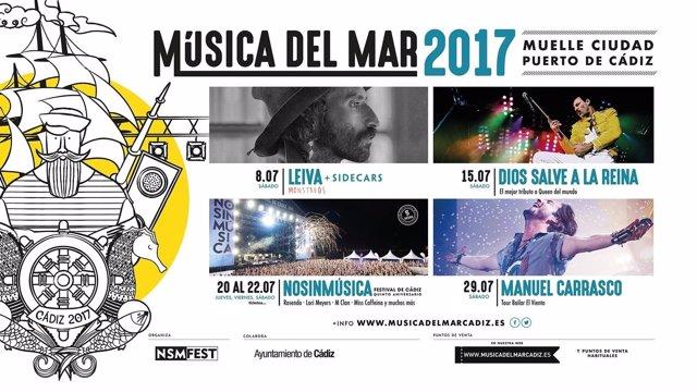 Cádiz acoge en julio en ciclo de conciertos 'Música del Mar'