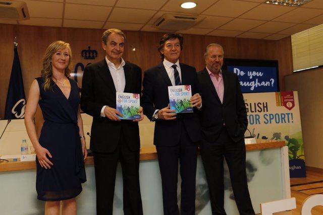 Mary Stabb, José Luis Rodríguez Zapatero, José Ramón Lete y Richard Vaughan